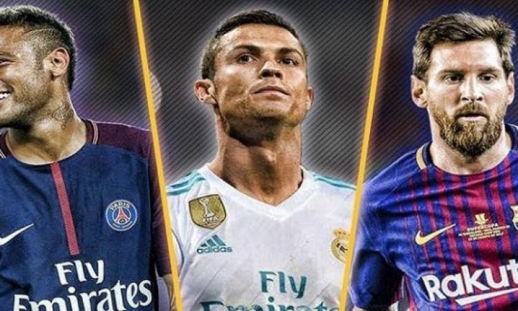 رونالدو وميسى ونيمار .. من يفوز اليوم بجائزة افضل لاعب فى العالم ؟