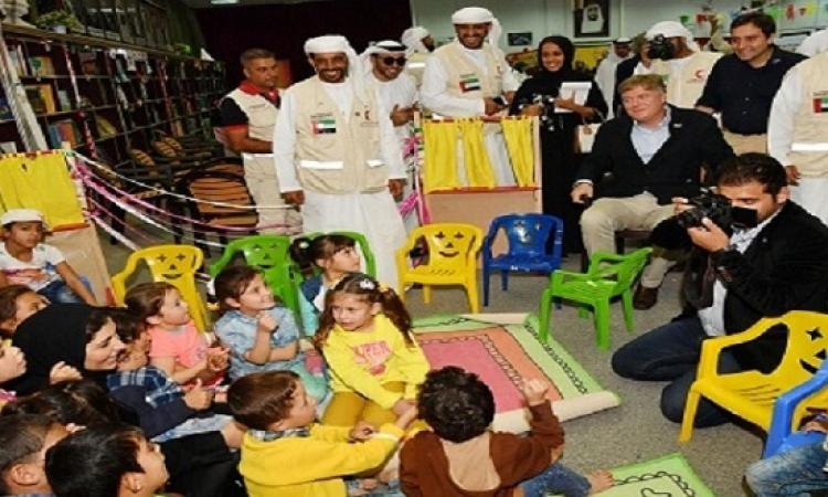 أعضاء البرلمان الأوروبي يزورون مخيم مريجب الفهود الإماراتي الأردني للاجئين السوريين