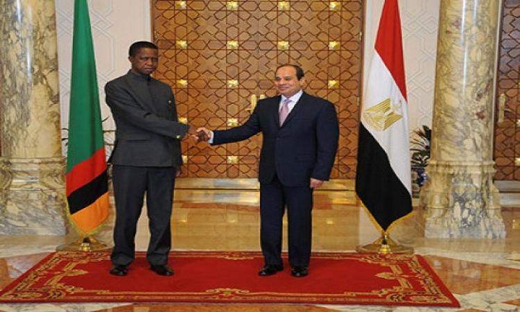 اتفاق مصر وزامبيا على استغلال عضويتهما بمجلس السلم والأمن لصالح أفريقيا
