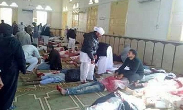 ارتفاع عدد شهداء حادث مسجد الروضة بالعريش لـ 235شهيدا و 109 مصابا