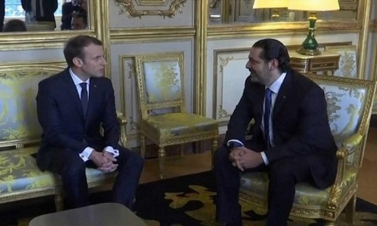 ماكرون يستقبل سعد الحريرى بقصر الإليزية
