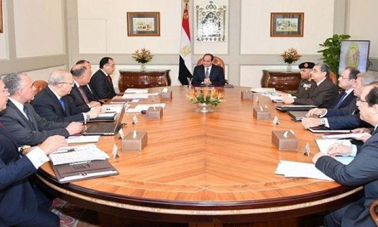 نقل السفارة الامريكية للقدس يتصدر الاجتماع الموسع للرئيس السيسى