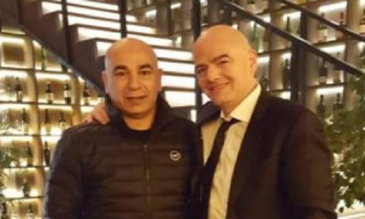 بالصور..  حسام حسن مع رئيس الفيفا ونجوم العالم بروسيا