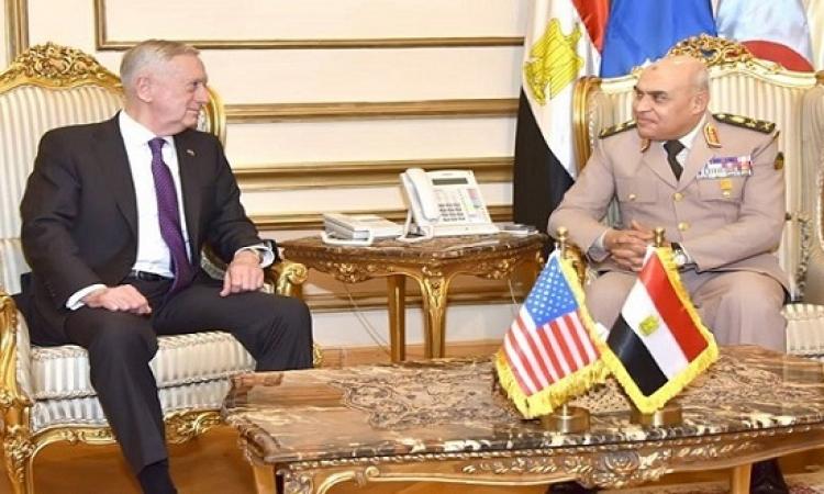 ماتيس يؤكد موقف بلاده الداعم لمصر وقواتها المسلحة فى الحرب ضد الإرهاب