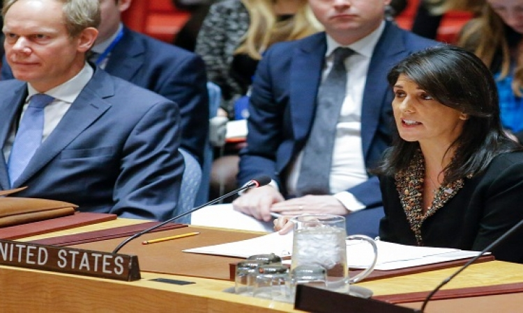 نيكى هيلى: سنستخدم الفيتو ضد قرار مصر بشأن القدس