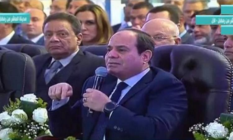 الرئيس السيسى : لن نسمح بمشكلة مائية .. وبرنامج تحلية المياه الذى ننفذه هو الأضخم