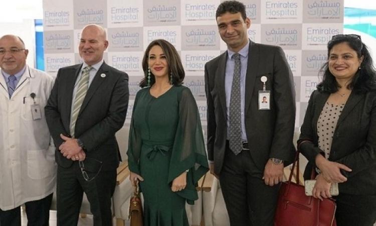 ديانا حداد تزور مستشفى الإمارات – جميرا وتلتقى الاطباء والمرضى