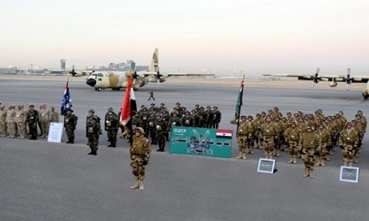 انطلاق التدريب المشترك درع الخليج بالرياض بمشاركة قوات مصرية