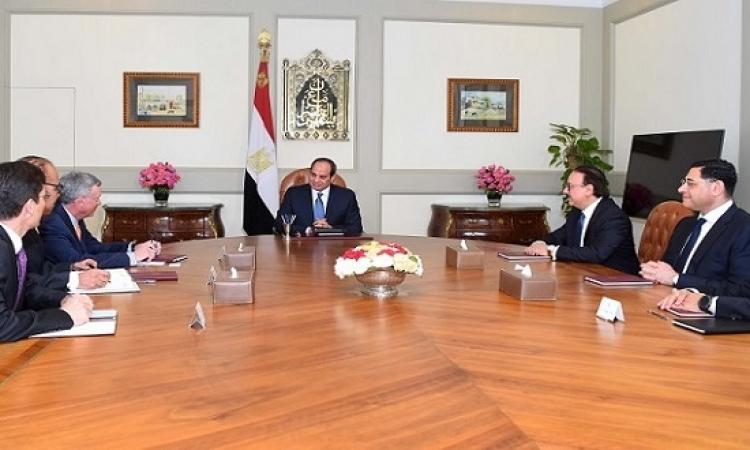 الرئيس السيسى يبحث مع رئيس شركة فيزا العالمية توسيع استثماراتها فى مصر