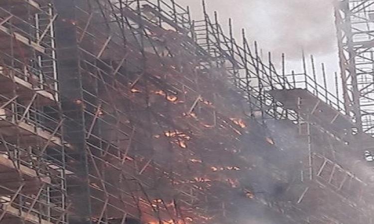 """""""أش أ"""": النائب العام يأمر بالتحقيق فى حادث حريق بمنطقة انشاءات المتحف الكبير"""