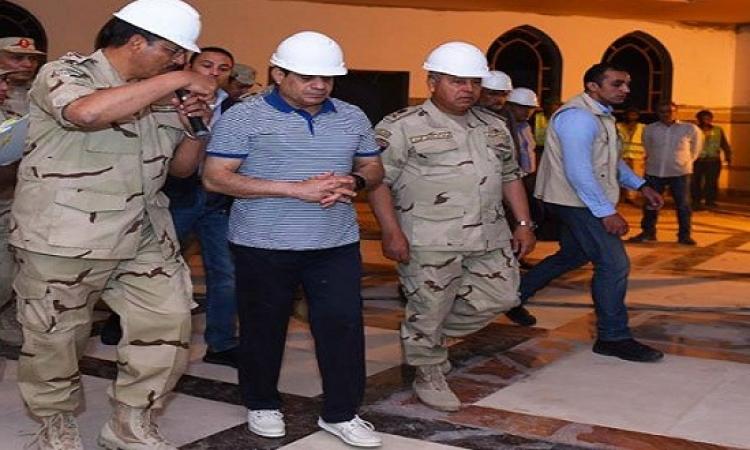 السيسى يتفقد سير العمل بمشروعات العاصمة الإدارية الجديدة