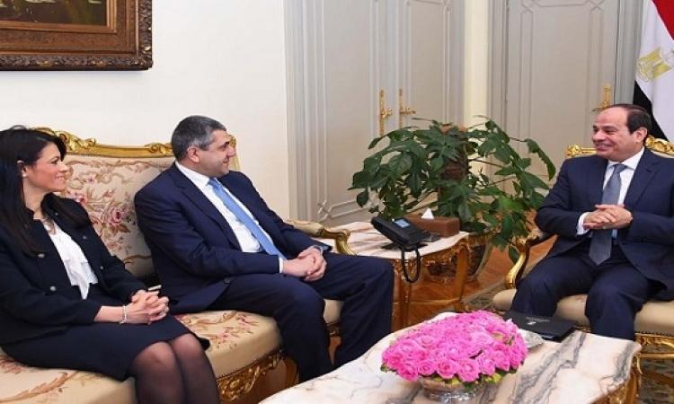السيسى يستقبل أمين عام منظمة السياحة العالمية