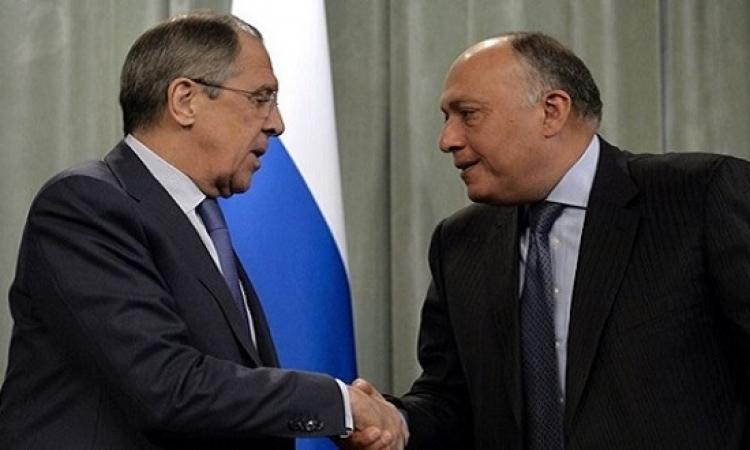شكري يبحث اليوم مع لافروف في موسكو التعاون الثنائي والقضايا الإقليمية