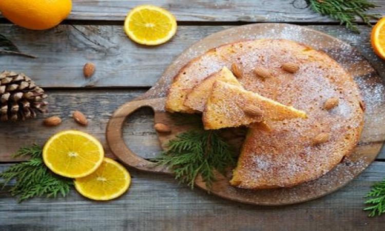 حلو اليوم من المطبخ الغربى .. كيك اللوز بالبرتقال