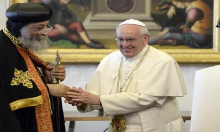 7 يوليو المقبل .. البابا تواضروس يلتقى بابا الفاتيكان فى روما