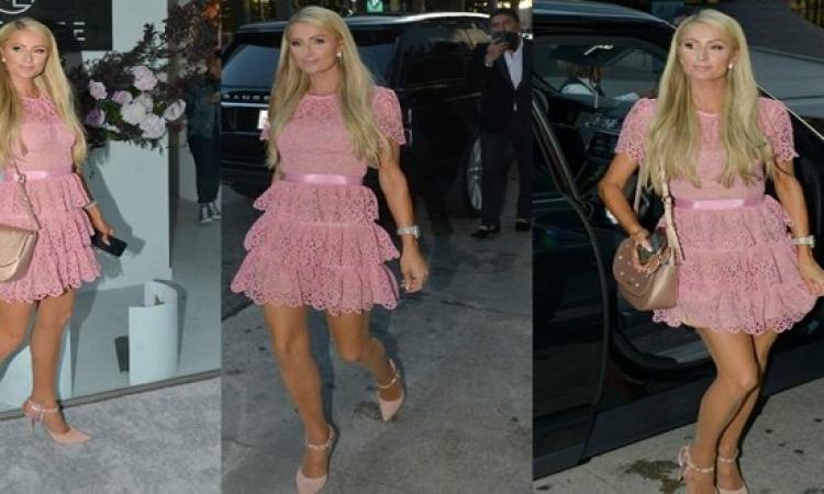 بالصور .. إطلالة ساحرة لباريس هيلتون بفستان قصير