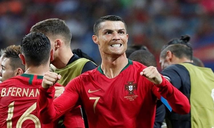 رونالدو يقود البرتغال لتعادل مثير أمام إسبانيا 3-3 بكأس العالم
