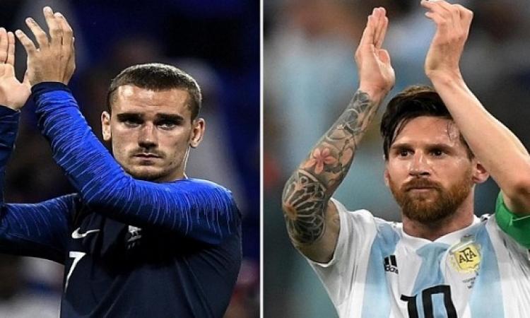 قمة نارية بين فرنسا والأرجنتين فى افتتاح ثمن نهائى كأس العالم