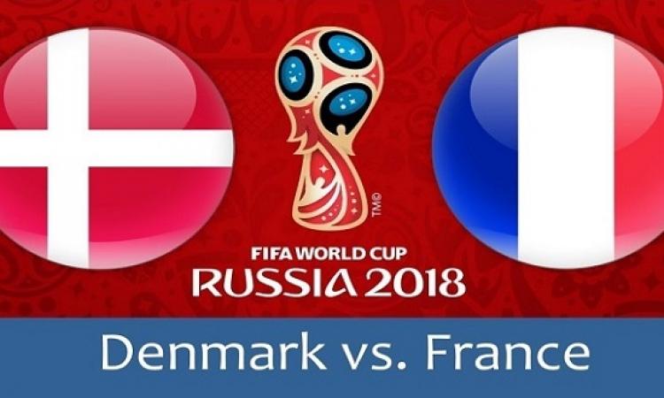فرنسا تسعى لتعزيز صدارة المجموعة الثالثة أمام الدنمارك