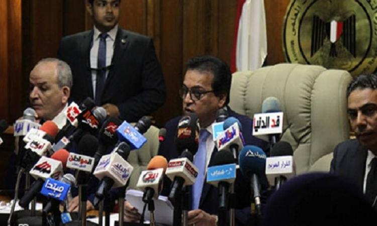وزير التعليم العالي يناقش اليوم استعدادات الجامعات للفصل الدراسي الثاني