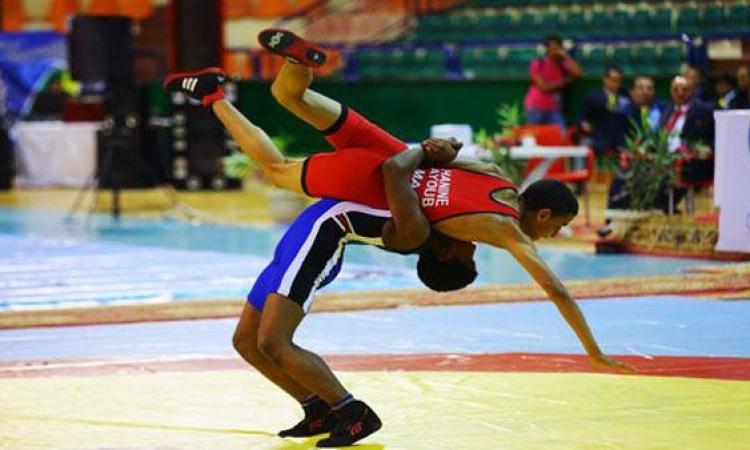 أبطال مصر يتوجون بثمانى ميداليات فى المصارعة الحرة بدورة الالعاب الافريقية للشباب