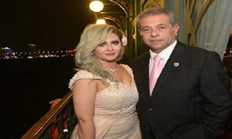 بالصور.. احتفال توفيق عكاشة بزفافه على الإعلامية حياة الدرديرى