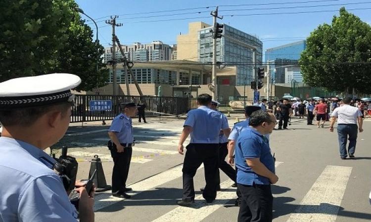 بالصور .. انفجار أمام سفارة واشنطن ببكين