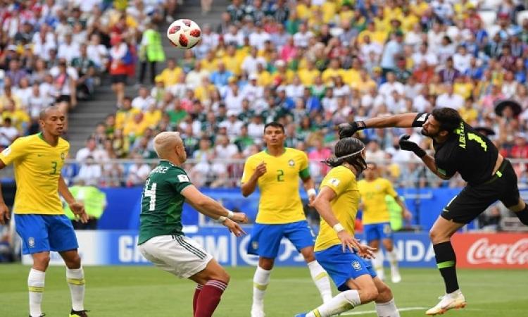 البرازيل تفوز على المكسيك بهدفين نظيفين وتتأهل لربع النهائى