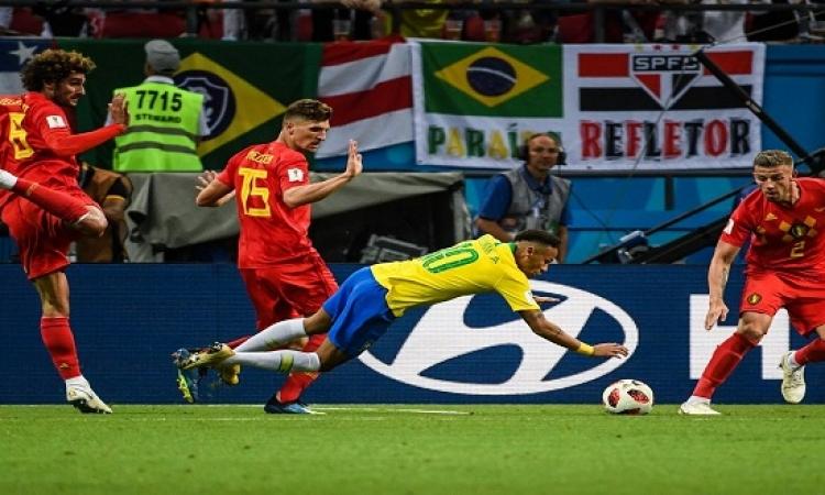 بلجيكا تقصى البرازيل وتواجه فرنسا فى نصف نهائى كأس العالم