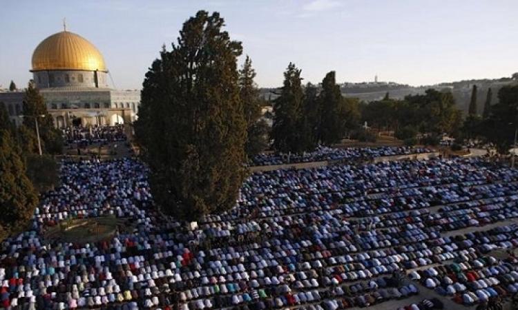 أكثر من 100 ألف مصل يؤدون صلاة العيد فى المسجد الأقصى