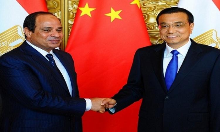السيسى يلتقى اليوم رئيس وزراء الصين ويضع إكليل زهور على النصب التذكارى