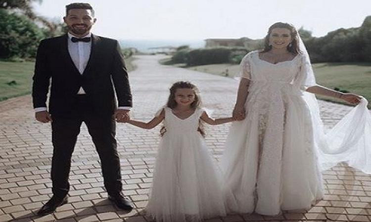الصور الأولى لزفاف الفنان محمود حجازي على ابنة شريف منير
