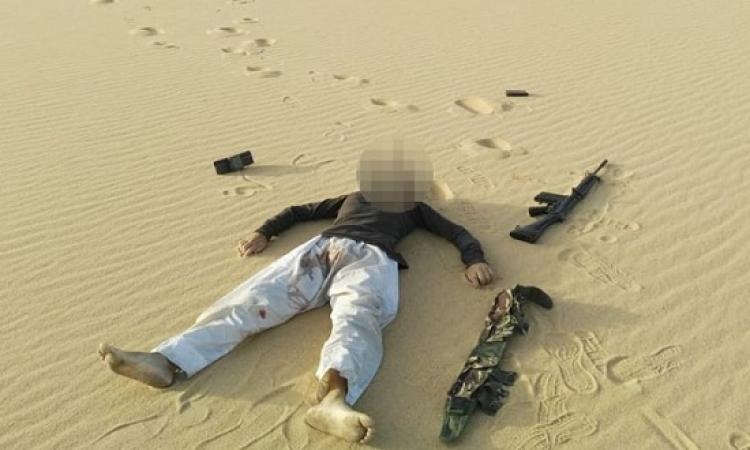 مقتل 11 إرهابيا في تبادل لإطلاق النار مع قوات الشرطة بمنطقة جبلية بطريق الفرافرة