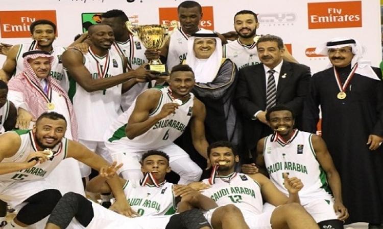 السعودية تهزم الجزائر وتفوز بكأس البطولة العربية لكرة السلة