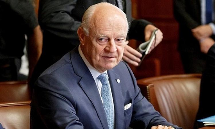 دي ميستورا : اللجنة الدستورية فى سوريا يمكن ان تجتمع الشهر المقبل