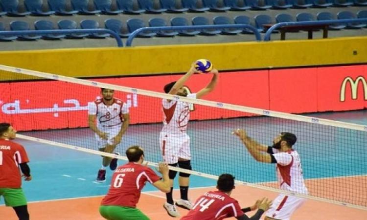 منتخب مصر يصطدم بالبحرين فى ختام البطولة العربية للطائرة