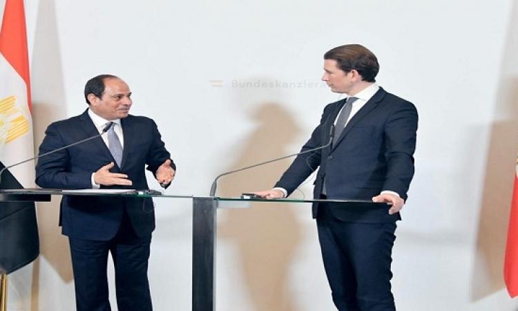 السيسى ومستشار النمسا يبحثان تعزيز التعاون فى السياحة والحوكمة