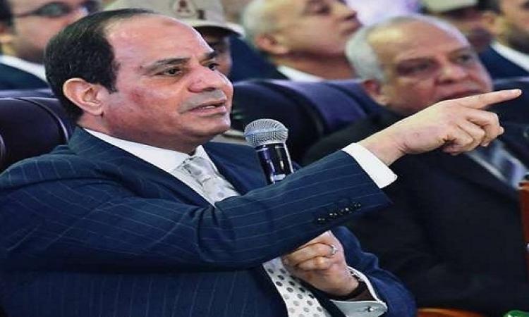 السيسي يشيد بدعم البنوك للمشروعات التنموية.. ويطالب بالمزيد من المساهمات