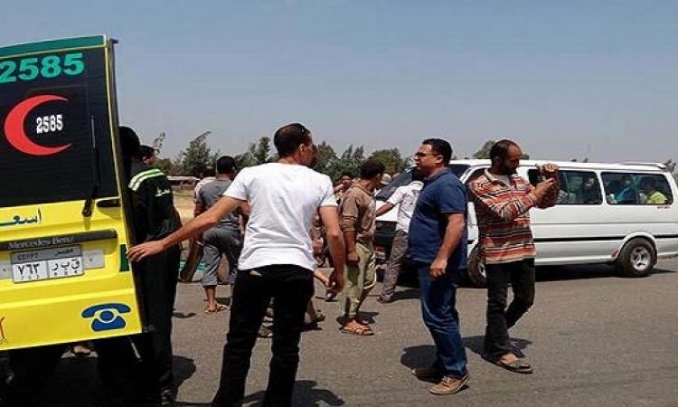 حادث سير مروع على طريق القاهرة الإسكندرية الزراعى
