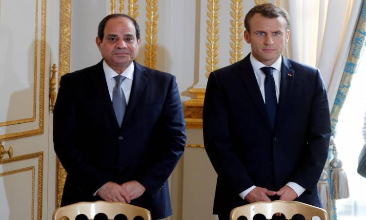 السيسى يدعو الشركات الفرنسية لتعظيم استثماراتها فى مصر