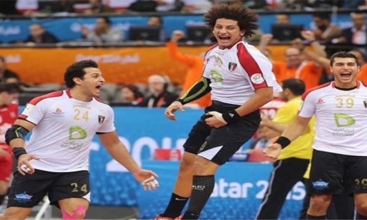 منتخب مصر يواجه اليوم منتخب الدانمارك القوى فى مونديال اليد