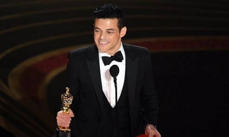 المصرى رامى مالك يفوز بجائزة اوسكار افضل ممثل