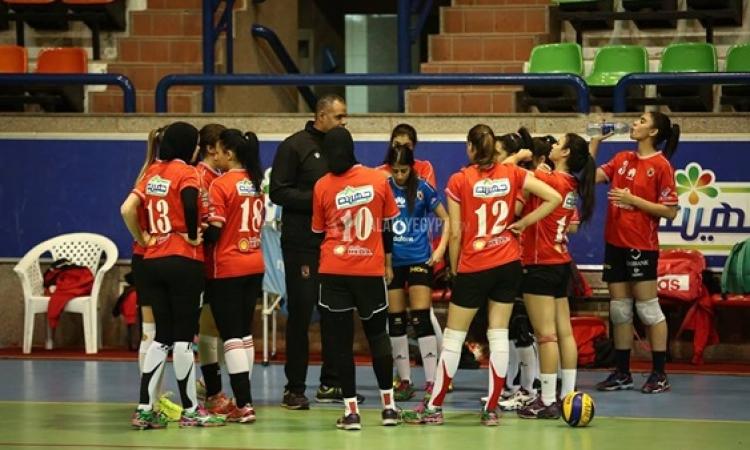 سيدات طائرة الاهلى يواجهن الزمالك فى البطولة العربية بدون جمهور