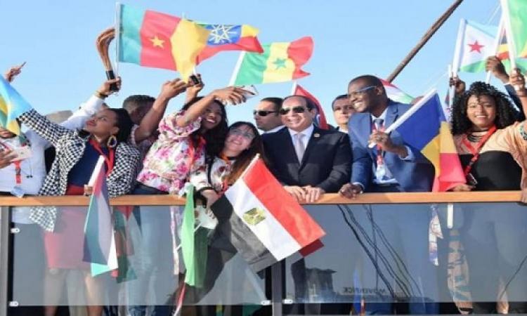 انطلاق فعاليات اليوم الثانى لملتقى الشباب العربى والإفريقى