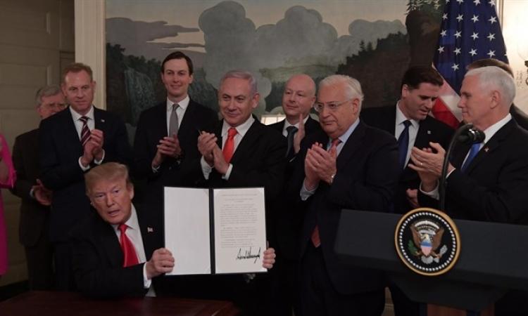 الأمم المتحدة ترفض الاعتراف بسيادة اسرائيل على الجولان بعد توقيع ترامب