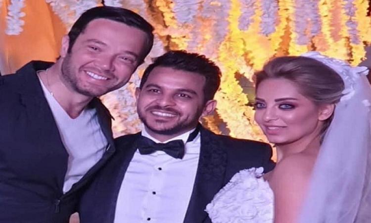 بالصور .. محمد رشاد ومي حلمى يحتفلان بزفافهما