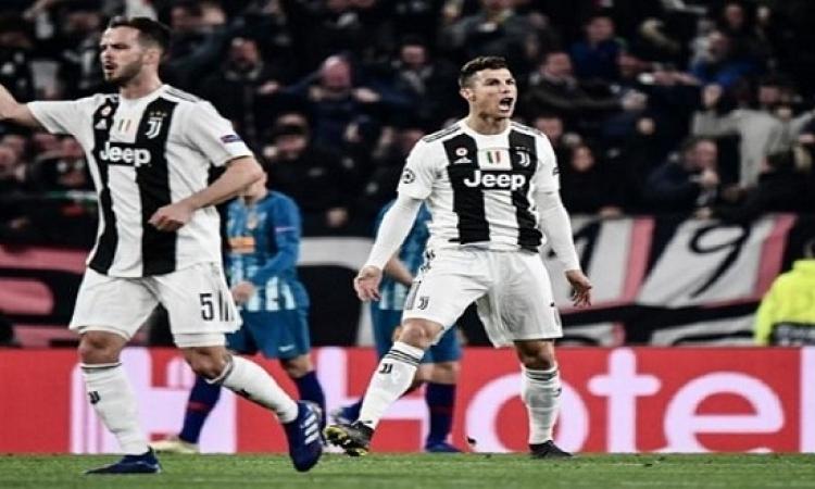 كريستيانو يتوهج ويقود يوفنتوس لربع نهائى الابطال على حساب أتليتكو مدريد