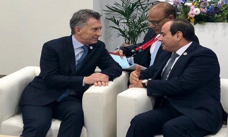 الرئيس السيسى يبحث مع نظيره الارجنتينى تعزيز التعاون بين البلدين