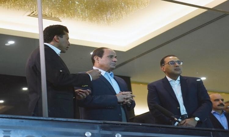 بالصور .. السيسى يتفقد استاد القاهرة لمتابعة الترتيبات النهائية لانطلاق كأس الأمم الافريقية