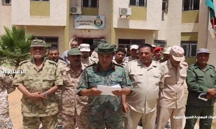 انشقاق كتيبة مشاة تابعة لميليشيات طرابلس وانضمامها للجيش الليبي